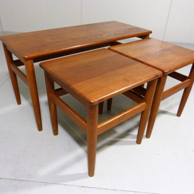 3 teak nesting tables Denmark 1