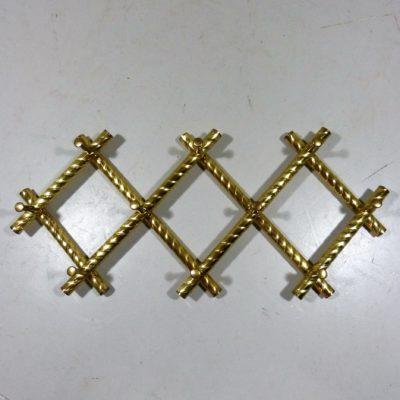 Brass Scissor Coat Rack 1