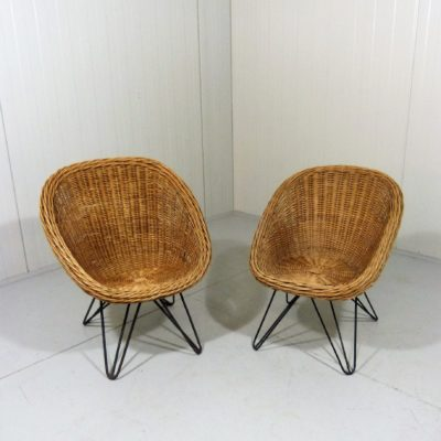 Children Rattan Hairpin Chairs 1