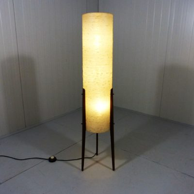 Rocket Floor lamp teak fiberglass 2