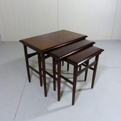 Rosewood Nesting Tables Dyrlund 1