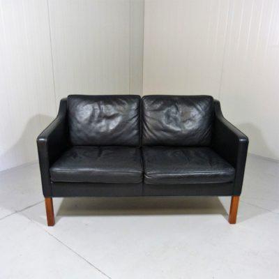 Sofa Børge Mogensen Fredericia black Leather 1