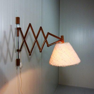 Teak Scissor Lamp 2