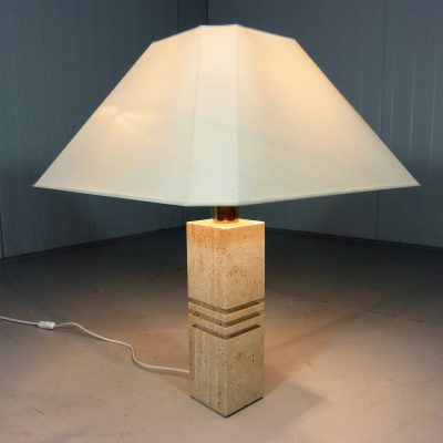 Travertine Table Lamp 1