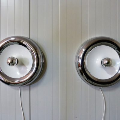 Wall Lamps Chrome Plated White 18