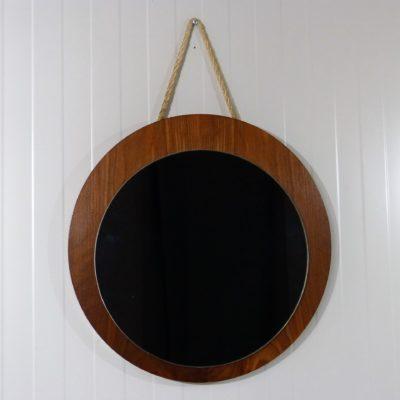 Wall Mirror Teak Rope 1