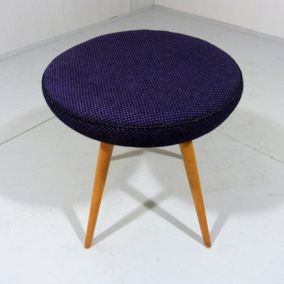 Wooden Stool Blue Black 1