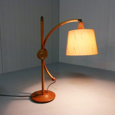 Danish Teak Adjustable Table Lamp 1