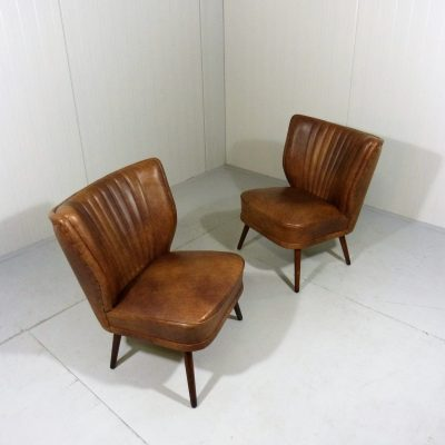 Cocktail Chairs Brown Vinyl 1