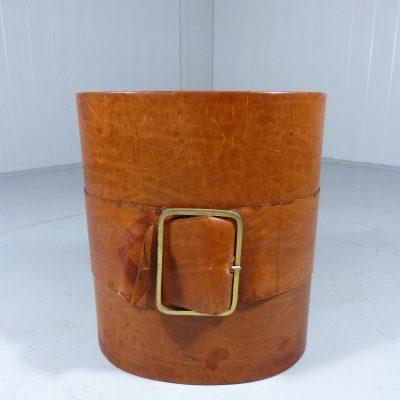 Leather Wastepaper Basket 1