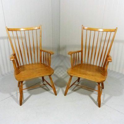 Beech Bar Arm Chairs 2