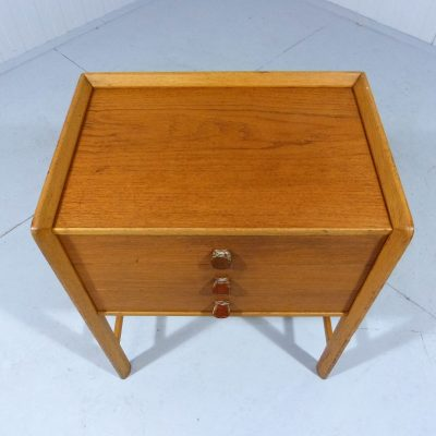 Teak Chest of Drawers Leather Grips 1